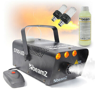 S700 Smoke & LED Flame Machine With Fluid, Strobe Lights House Halloween Party • 53.99£