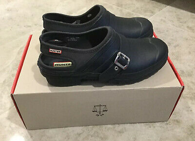 Hunter Original Slingback Clog WWF1053NRE In Navy Uk8 Eur42 BNIB • 50£
