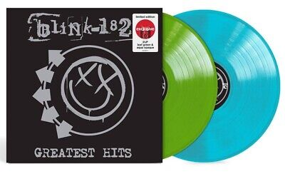 Blink-182 - Greatest Hits Exclusive Limited Aqua Blue Green Colored Vinyl 2 LP • 28.94£