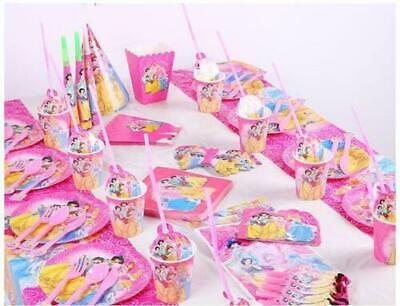 Disney Princess Party Tableware Birthday Supplies Girls Plates Decorations • 3.69£