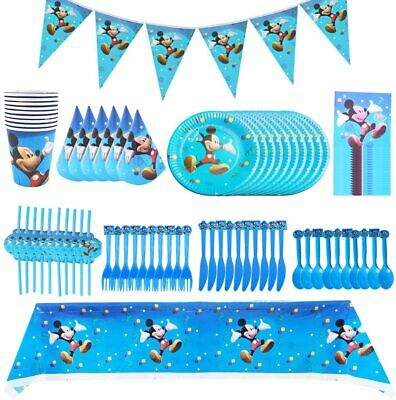 Mickey Mouse Kids Birthday Party Supplies Cups.plates,napkins Etc • 2.49£