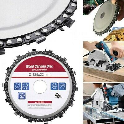 125mm Angle Grinder Disc 5in Metal Chain Saw Blade Plastic Wood Carving DIY Tool • 6.99£