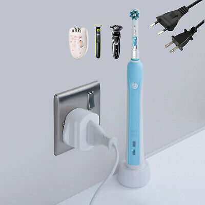 Toothbrush Adapter Electric Shaver Adapter Plug UK Charger Socket 2 Pin To 3 Pin • 3.27£