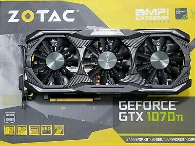 $ CDN425 • Buy ZOTAC Nvidia GeForce® GTX 1070 Ti AMP Extreme Graphics Card 8GB Triple Fans RGB