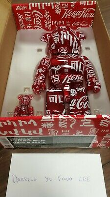 $345 • Buy Be@rbrick Bearbrick Atmos X Coca Cola 100% & 400% Set Clear/Red