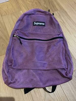 $ CDN394.57 • Buy Supreme New 16ss Purple Mesh Backpack Free Shipping From JP With Tracking(6508N)