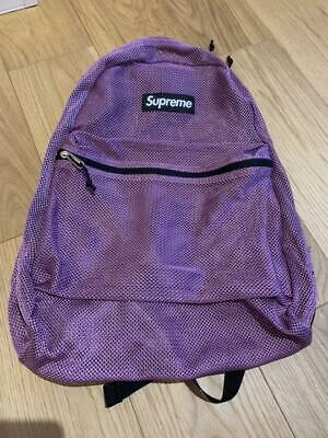 $ CDN405.36 • Buy Supreme New 16ss Purple Mesh Backpack Free Shipping From JP With Tracking(6508N)