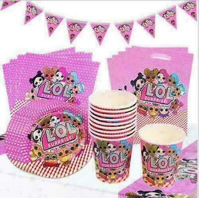 LOL Surprise Birthday Party Girls Tableware Dolls Decorations L.O.L Balloons • 3.69£