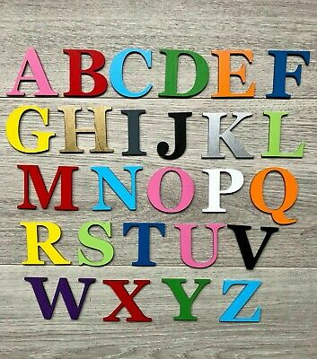 £0.99 • Buy Georgia Bold Wooden Letters & Numbers 3mmThick BIRCH Alphabet Letters & Numbers