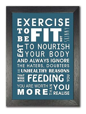 £5.99 • Buy Exercise Sport Fitness Gym Quote Poster Motivation Inspiration Photo Muscle