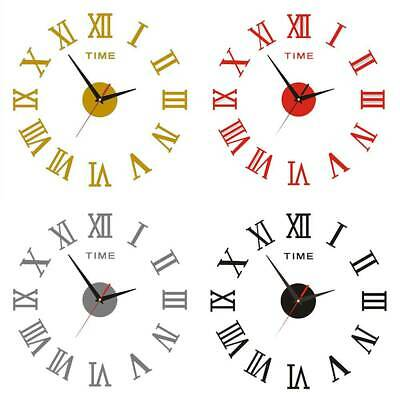 DIY Number Wall Clock Sticker Simple Self-Adhesive Modern Home Office Art Decor • 5.22£