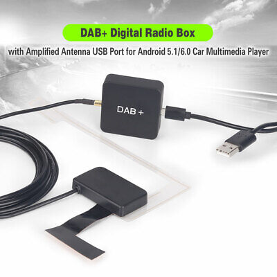 354 DAB+ Digital Radio Adapter Amplified Antenna For Android 5/6/7/8 Car Stereo • 25.44£