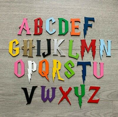 £0.99 • Buy Harry Potter Wooden Letters & Numbers 3mm Thick BIRCH Alphabet Letters &Numbers