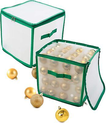 Bauble Storage Box Christmas Tree Decoration Organiser Xmas Storage 64 Baubles  • 12.99£