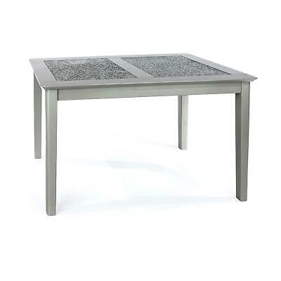 Grey Painted Stone Topped Modern 1.2m Wooden Dining Table Sits Minimum 4 • 163.99£
