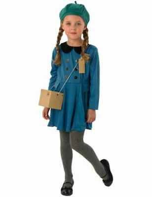 Childs Evacuee Girl Fancy Dress Wartime Costume Kids Ages 5-10 Years • 9.99£