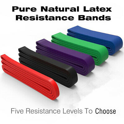 $ CDN8.02 • Buy Resistance Bands Power Lifting Exercise Band Fitness Pull Up Band Latex Belt New