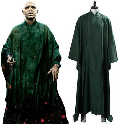 £56.54 • Buy Lord Voldemort Cosplay Costume Suit Green Uniform Cloak Robe Outfit