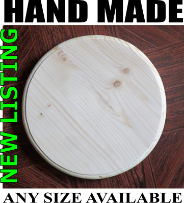 ROUND Plain Wooden Plaque Door Sign Blank Home Decoration ANY SIZE POSSIBLE R1 • 4.99£