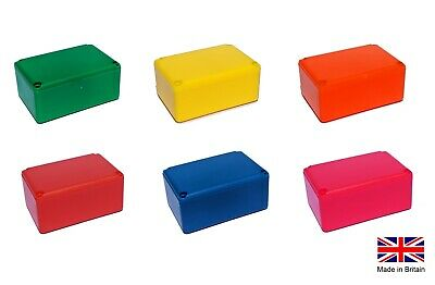 £4.50 • Buy Small Tiny Enclosure Coloured Project Boxes- UK Made- Ideal For Electronics
