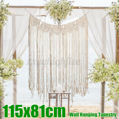$24.88 • Buy Cotton Macrame Wall Hanging Tapestry Wedding Backdrop Large Curtain Home Decor