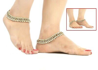 £7.50 • Buy Women Partywear Payal Anklet Indian Foot Jewellery Bollywood Kundan Ankle Chain