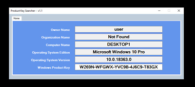Windows 7 / VISTA / 8.1 / 10  Product Licence Key Recovery Software 32/64bit • 1£