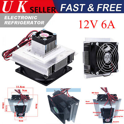 £17.99 • Buy 12V 6A Thermoelectric Peltier Refrigeration Cooler Fan Cooling System Module NEW