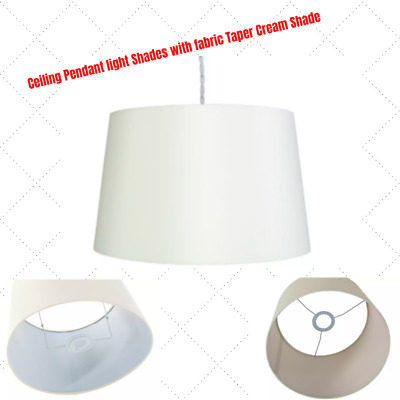 £15.99 • Buy Ceiling Pendant Light Shades With Fabric Taper Cream Shade 18X29cm