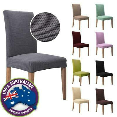 AU57.55 • Buy 1-6 PCS Jacquard Thick Spandex Elastic Stretch Slip Cover Washable Dining Chair
