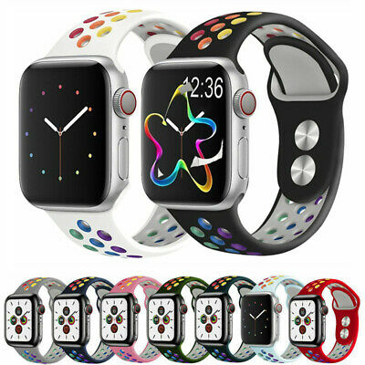 AU14.99 • Buy Silicone Strap Soft Watch Band For Apple Watch Series 5 4 3 2 1 38/40mm 42/44mm