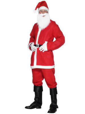 Adults Santa Claus Suit Mens Father Christmas Fancy Dress Costume Budget Outfit • 8.95£