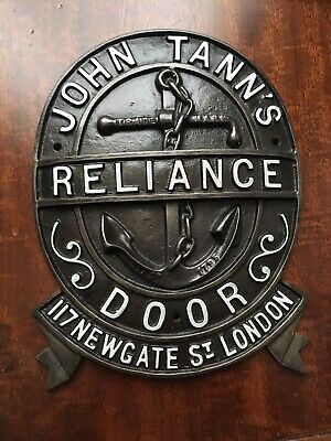 Large Antique Tanns Cast Iron Safe Door Plaque/Plate • 29.99£
