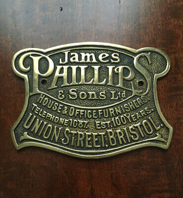 A Rare Outstanding Designed Antique Safe Plaque/Plate From A James Phillips Safe • 39.99£