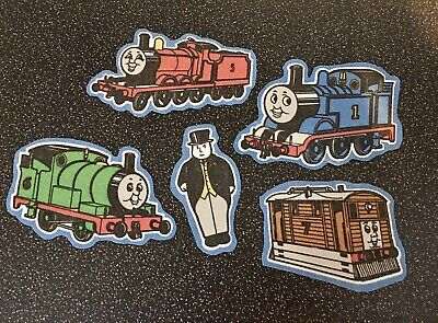 Vintage Thomas The Tank Engine Fabric 5 X Pieces Appliqué Patches Characters #2 • 3.99£