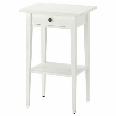 IKEA HEMNES Bedside Table 46x35x70 Cm White Stain • 83.03£