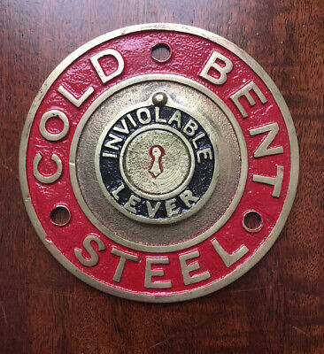 A Rare Cast Brass Safe Plaque/Plate/Escutcheon With Swinging Cover. • 24.99£