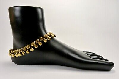 £6.49 • Buy Ghungru Chanchan Payal Anklet Indian Foot Jewellery Bollywood Kundan Ankle Chain
