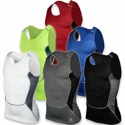 UK Mens Casual Sleeveless Vest Tunic Casual Sports Fitness Gym T-Shirt Sportwear • 7.59£