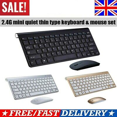 2.4G Waterproof Mini Wireless Keyboard And Mouse Set For Apple Mac PC Computer. • 13.39£