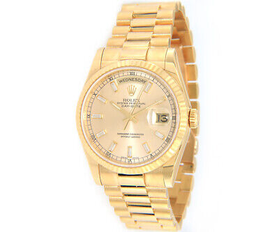 $ CDN29843.66 • Buy 2000 Rolex Day-Date President 118238, Champagne Diamond Dial W/ Box & Papers