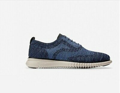 $ CDN142.30 • Buy Cole Haan 2.ZeroGrand Wingtip Oxford Blue Marine Stitchlite Shoes 9 New