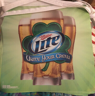 $25 • Buy St Patricks Day Miller Lite Beer STRING PENNANTS Party/Man Cave Banner 36 Flags