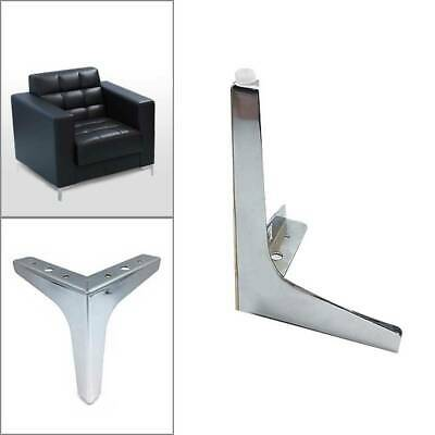 Chrome Sofa Legs - Steel Plinth Legs/Feet For Furniture. Heavy Duty & Strong • 4.79£