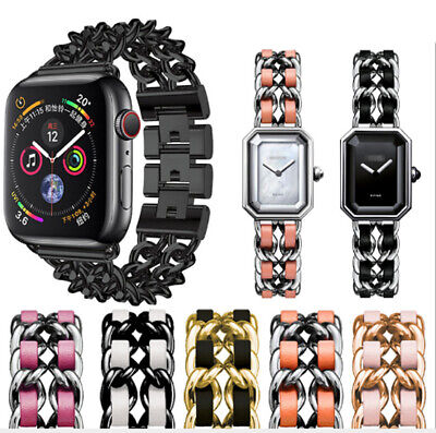 AU19.99 • Buy Cowboy Chain & Leather Watch Band Strap For Apple Watch IWatch Series 5 4 3 2 1