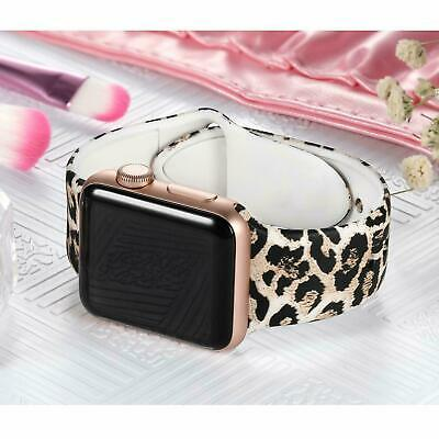 AU13.99 • Buy For Apple Watch Band Series 6 5 4 3 2 1 SE Leopard Print Sport Silicone Strap