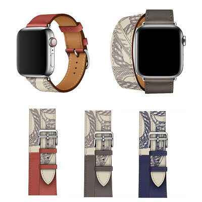 AU16.99 • Buy Fashion Pattern Leather Wrist Watch Band Starp For Apple Watch Series 5 4 3 2 1