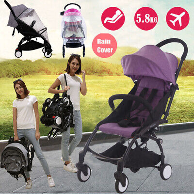 AU115.86 • Buy Purple Compact Lightweight Baby Stroller Pram Easy Folding Travel Carry-on Buggy