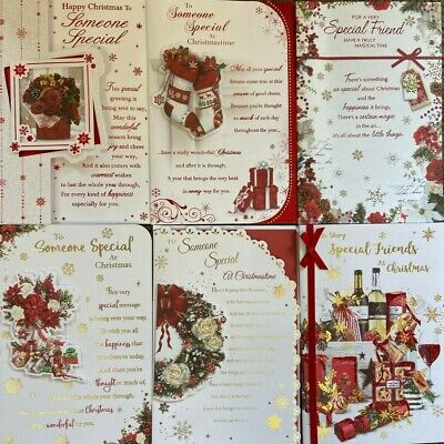 QUALITY ~ CHRISTMAS CARD ~ CHOICE OF TITLE & DESIGN ~ Friends Some One Special • 1.65£