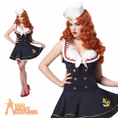 Ladies Sexy Nautical Doll Sailor Girl Costume Navy Book Day Fancy Dress Outfit • 22.99£